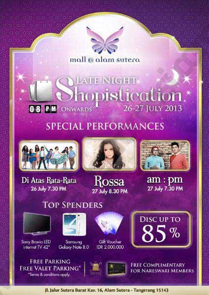 Hadiah/harga promo diskon 85% di Mall Alam Sutera