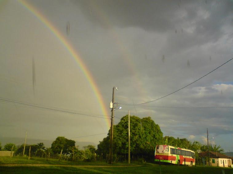 Arco-íris lindíssimo...