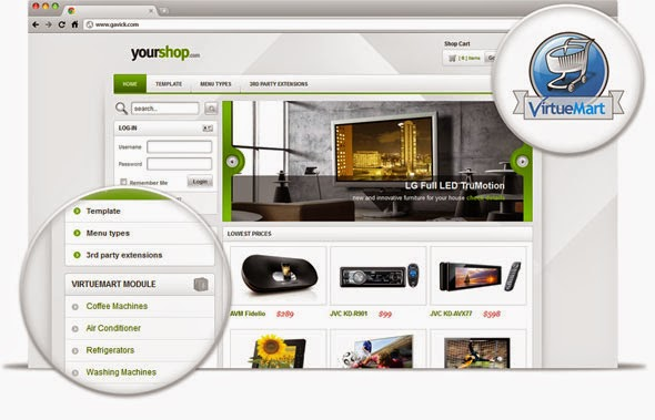 YourShop 2.11 Theme For Joomla 2.5 GavickPro eCommerce Template ...