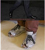 Zapatos nuevos y viejos