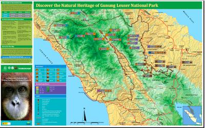 Peta Wisata Gunung Leuser