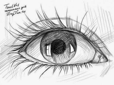 طريقة رسم العين بقلم رصاص للمبتدئين Dz Fashion