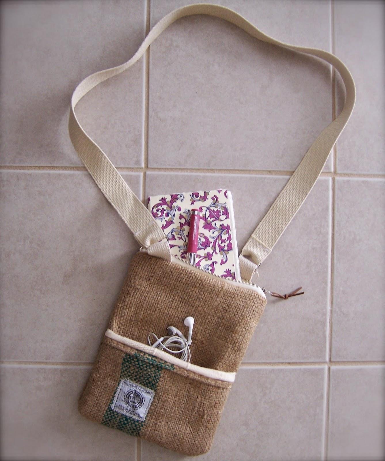 Jute Mills burlap bag - linaandvi.blogspot.com - Plymouth MI