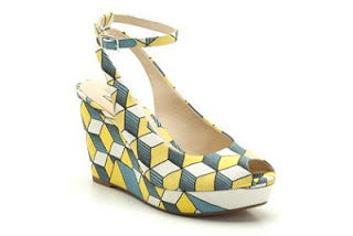 Eley Kishimoto, Eley Kishimoto for Clarks, Clarks shoes cute, cute Clarks heels, Clarks wedges, Clarks black and white, colorful prints, colorful print wedges, green print heels, black and white geometric shoes, funky heels, Clarks funky heels, Eley kishimoto Clarks heels, Eley kishimoto wedges, NYC funky style, NYC lower east side, lower east side stores, lower east side fashion, new designers, fresh finds, NYC hidden gems, New York girl fashion, comfortable cute heels, comfy heels, comfortable wedges, cute and comfortable