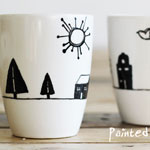 Painted Mugs DIY