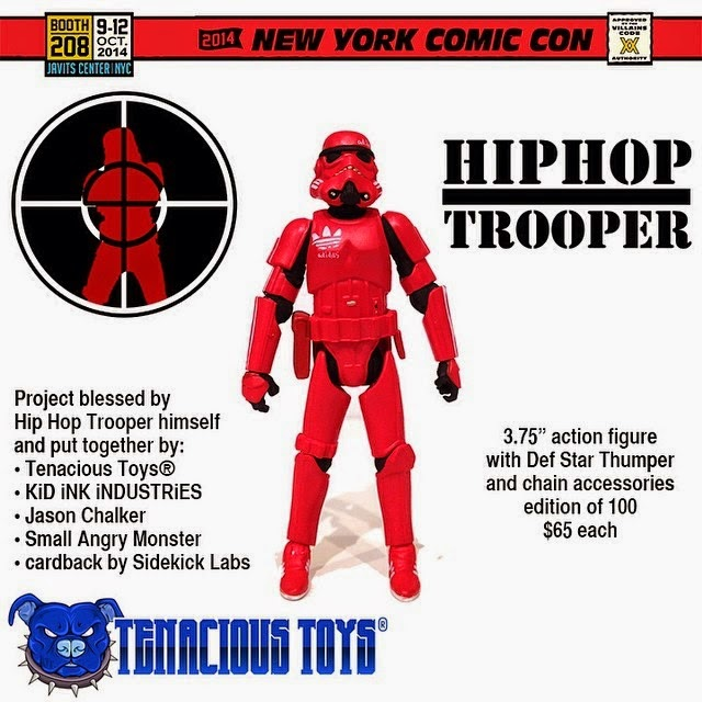 "New York Comic Con 2014 Exclusive ""Hip Hop Trooper"" Star Wars Bootleg Action Figure by Tenacious Toys"