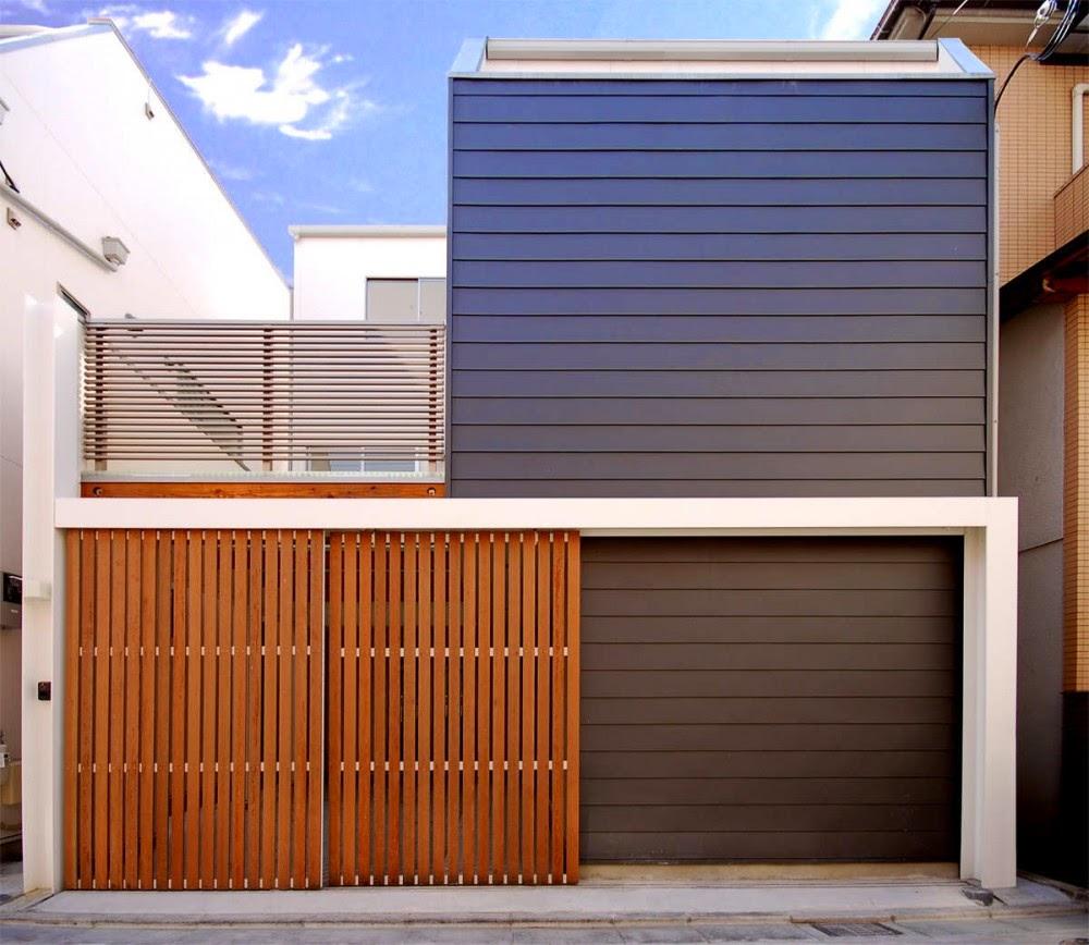 Fasad Campuran  Lantai 2 Untuk Rumah Hunian Yang Unik