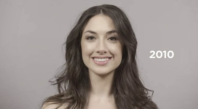 The return to basic 2010s. - A Video Breaks Down 100 Years Of Beauty Trends In One Minute