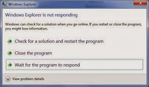 cara mengatasi Windows explorer is not responding