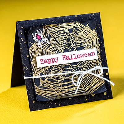 Halloween Spider Web Card by Stampin' Up! #cardmaking #halloween #stampinup