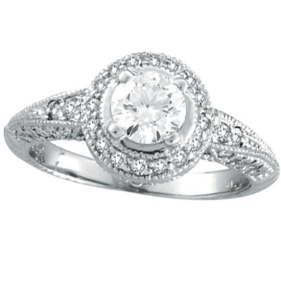 wedding dress design antique style engagement rings