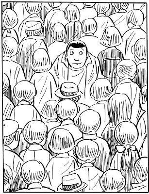 yoshihiro tatsumi upstream alone manga drawing bw