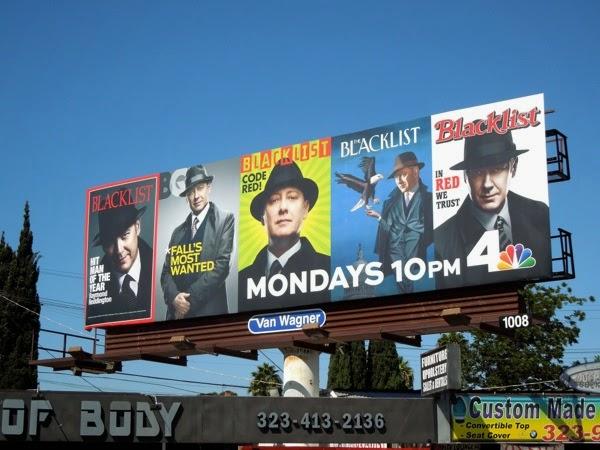 Blacklist season 2 iconic magazine cover billboard