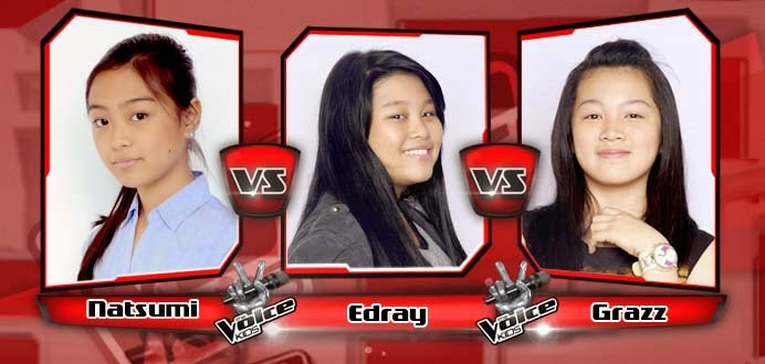 Battle Round between Natsumi Saito, Edray Teodoro and Grazz Enriquez on The Voice Kids Philippines Team Bamboo Battle Rounds