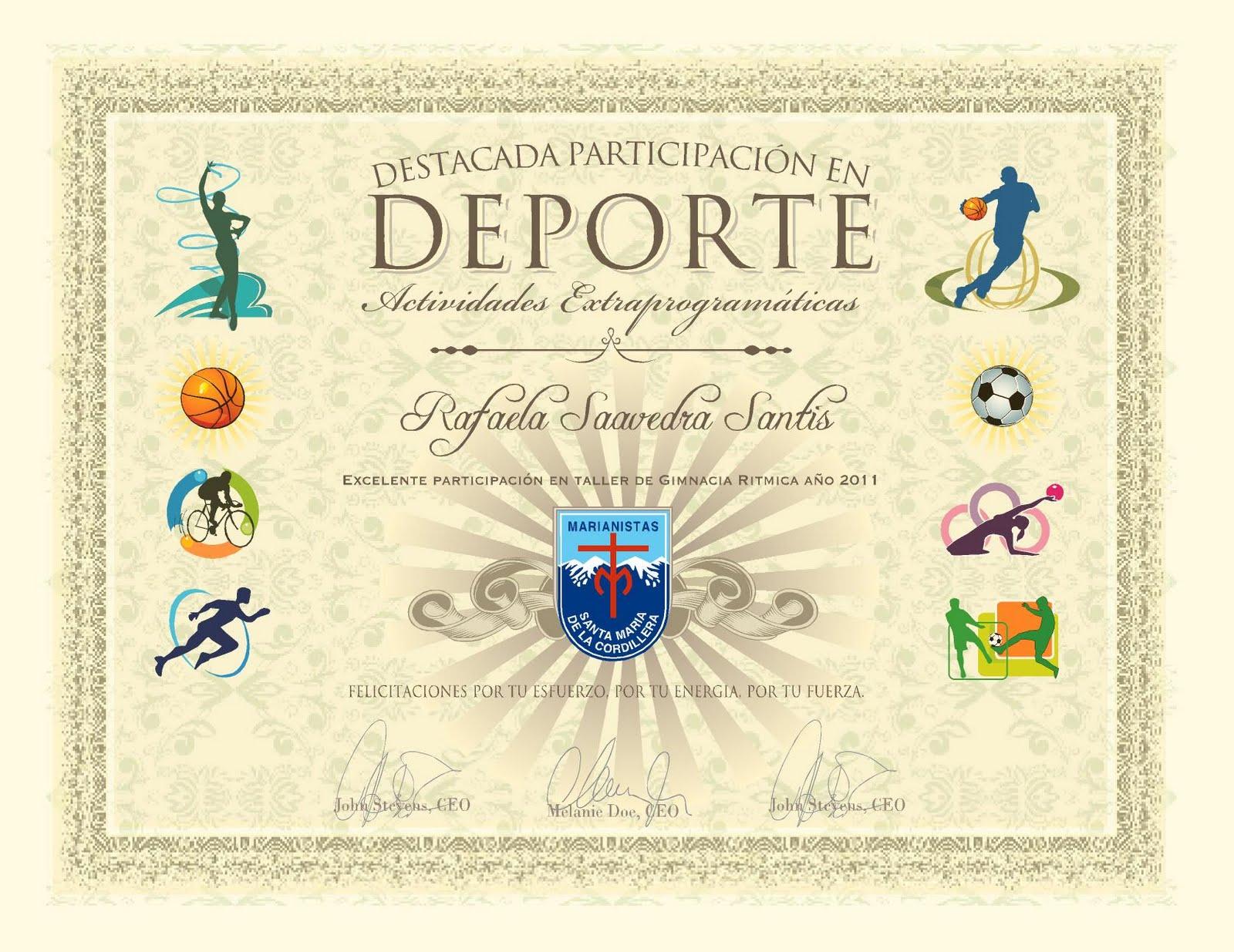 Formatos De Diplomas Para Imprimir
