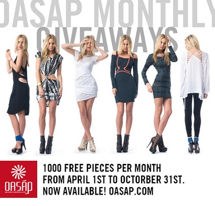 Oasap monthly giveaway banner, street fashion, oasap
