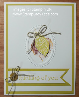 Card that's been texture embossed with Stampin'UP!'s Designer Frames Oval Frame