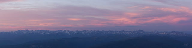 The entire length of the gore range mountains in the distance panoramic image from Mount of the Holy Cross