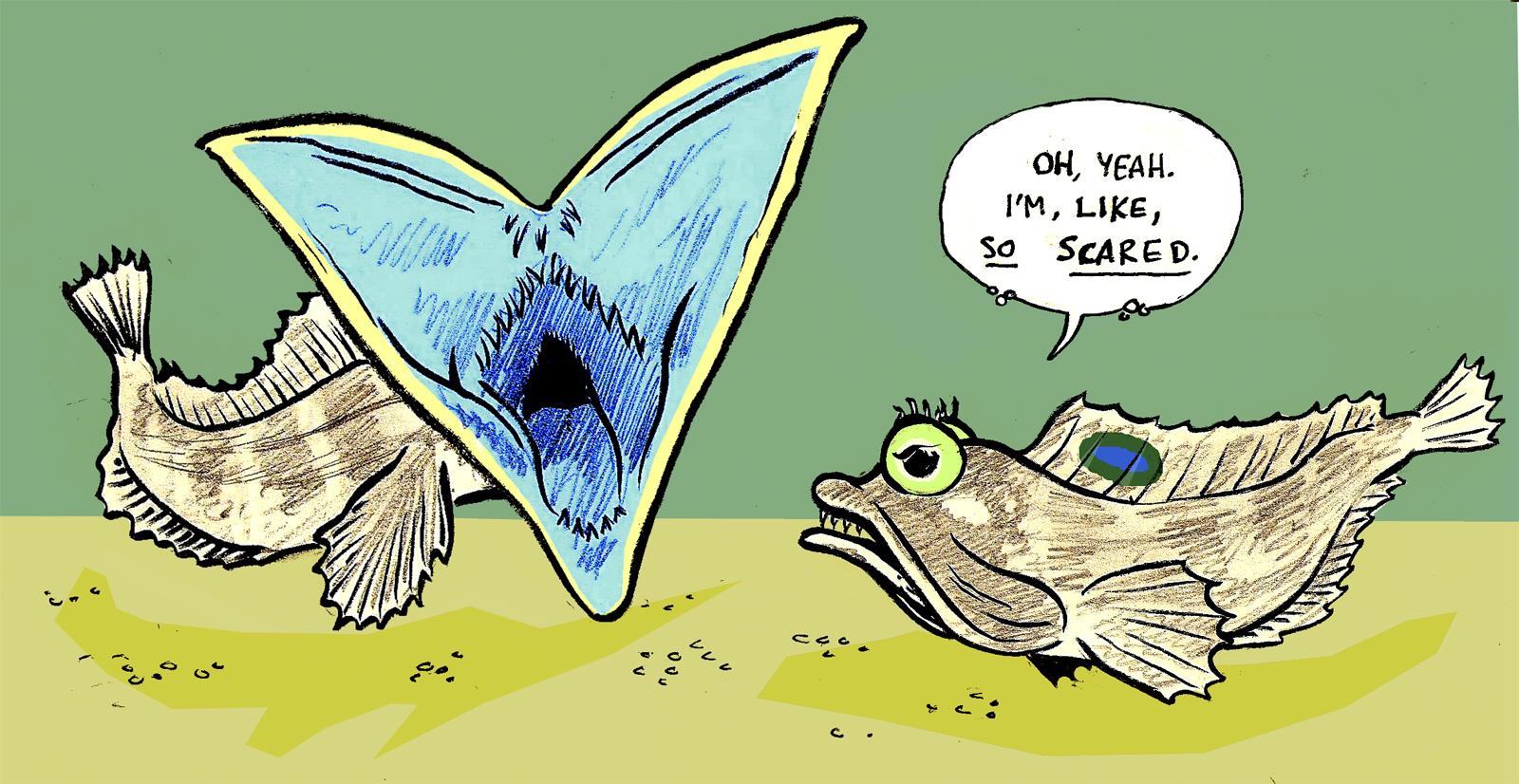 Satisfactory Comics: Animal Alphabet: S is for Sarcastic Fringehead