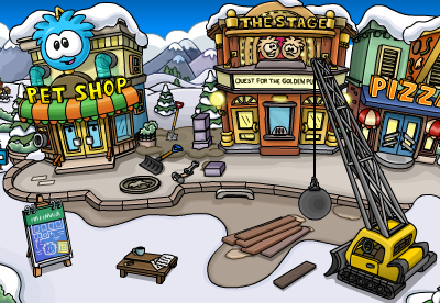 Puffle Hotel Construction