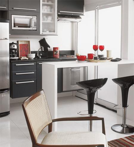 Casinha bonitinha cozinhas e salas integradas ou para for Modelos de cocinas pequenas con barra