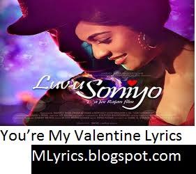 Youu0027re My Valentine Lyrics