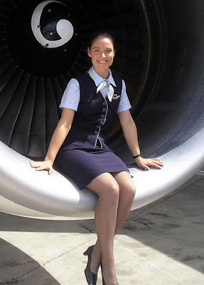 sexy hypnotized stewardess