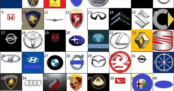 auto cars logos car logos with names