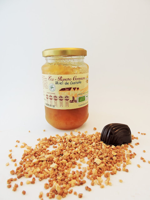 recette de Praline à la ganche au miel de châtaignier et aux amandes d'Andalousie de benamonarda