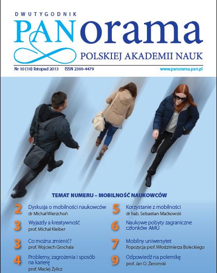 "Okładka nowego numeru dwutygodnika ""Panorama PAN"""