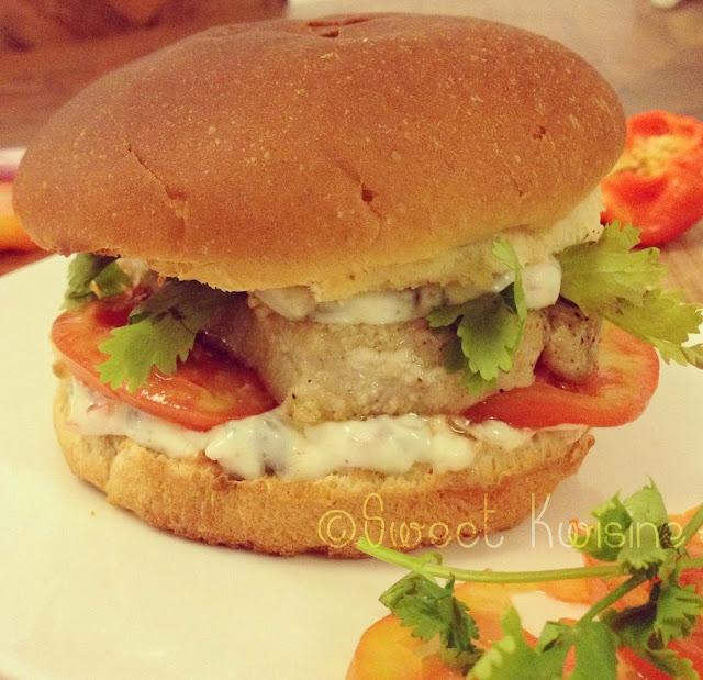 sweet kwisine, burger, poisson, marlin, coriandre, fish, cuisine antillaise