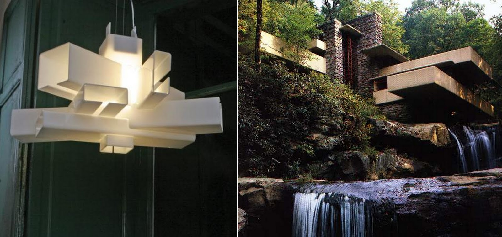 Librarian tells all what if fallingwater was a chandelier for Architecture frank lloyd wright