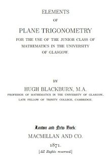Elements of Plane Trigonometry