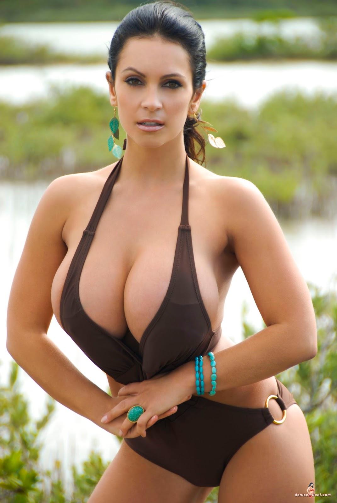 Denise Milani Brown Bikini 37