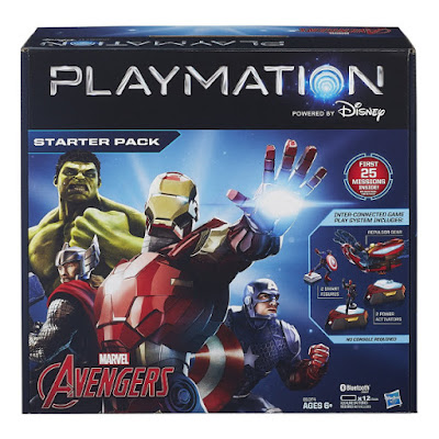TOYS : JUGUETES - PLAYMATION  Marvel Avengers - Starter Pack | Pack Inicio  Repulsor Gear + 2 Smart Figures + 2 Power Activators Producto Oficial Disney 2015 | Hasbro B1074 | A partir de 6 años Comprar en Amazon