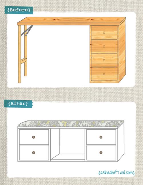 Transformamos un escritorio en un banco