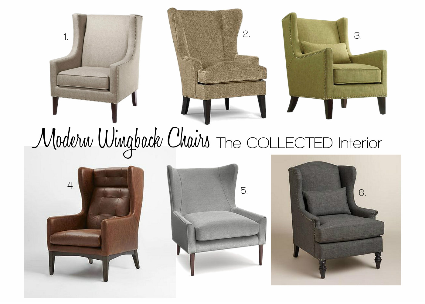 The Collected Interior Design Crush Modern Wingback Chairs