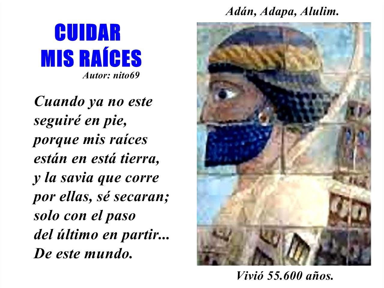 CUIDAR MIS RAÍCES ( Homenaje ).
