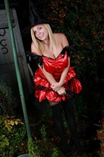 Happy Halloween from Tegan Brady Big Boobed Halloween Witch - Video