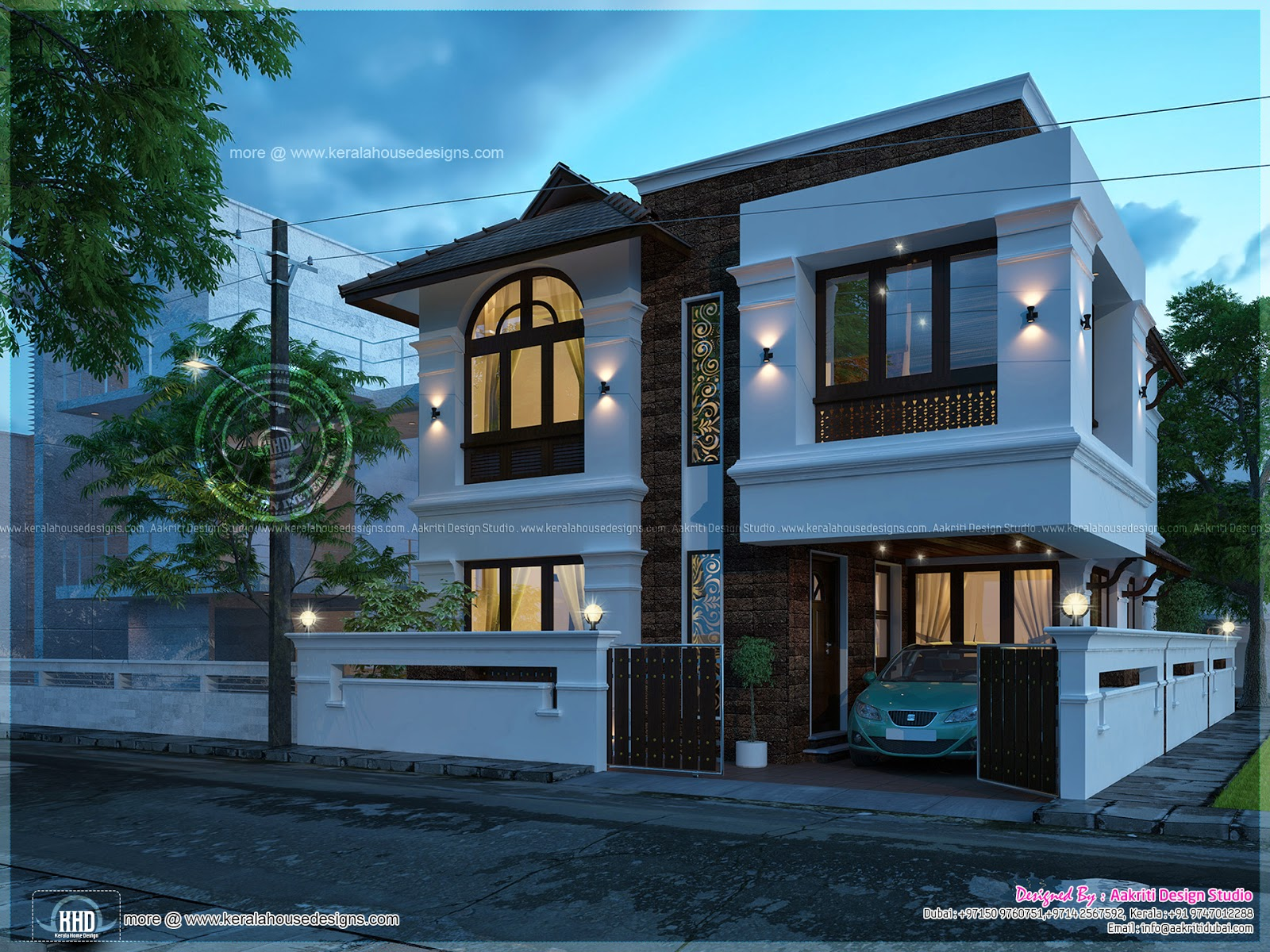 3 bedroom villa in 1790 square feet kerala home design for New villa design