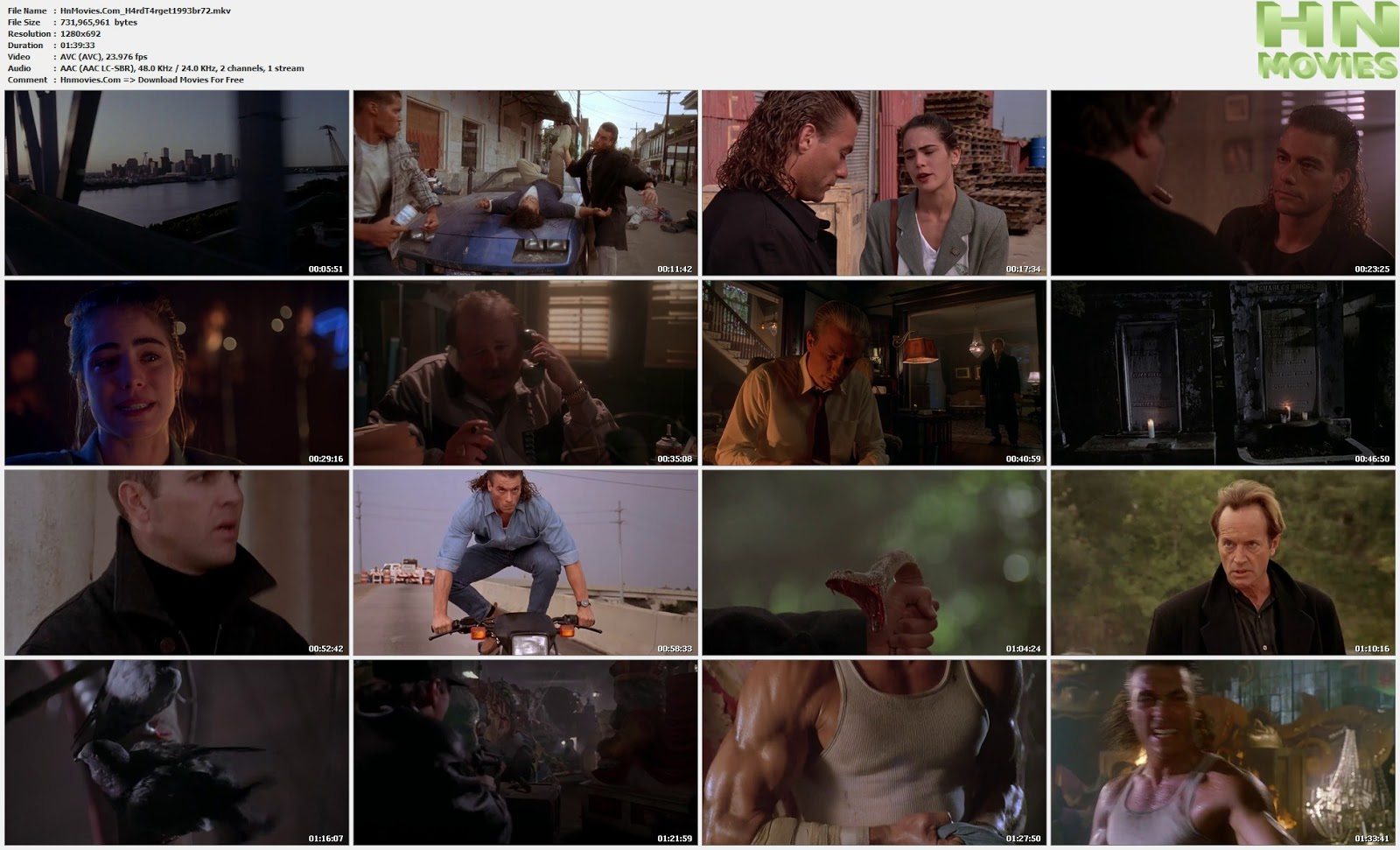 movie screenshot of Hard Target fdmovie.com