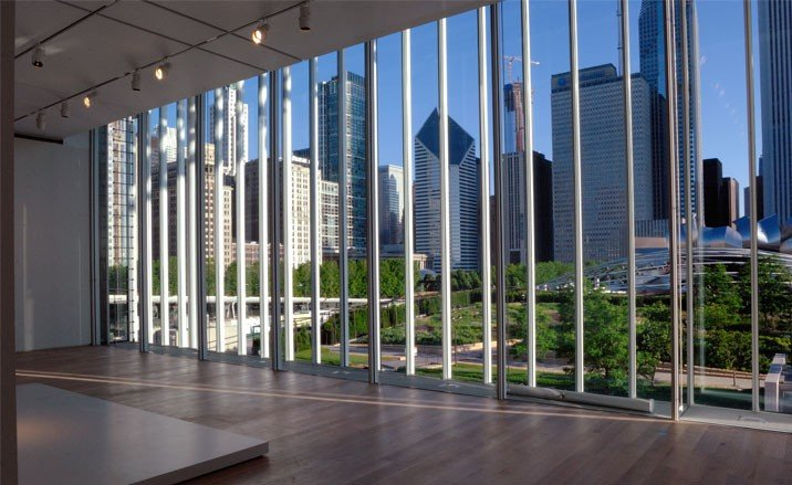 Modern Wing, View Of Chicago Skyline From Modern Wing Gallery, The Art  Institute Of Chicago Photography Charles G. Young, Interactive Design  Architects