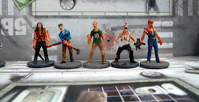 Zombicide, Zombivores, painted, Nick, Cholo, Geek, Eagle, Chaz