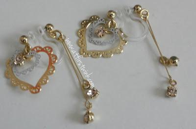 It's Demo gold, heart earrings