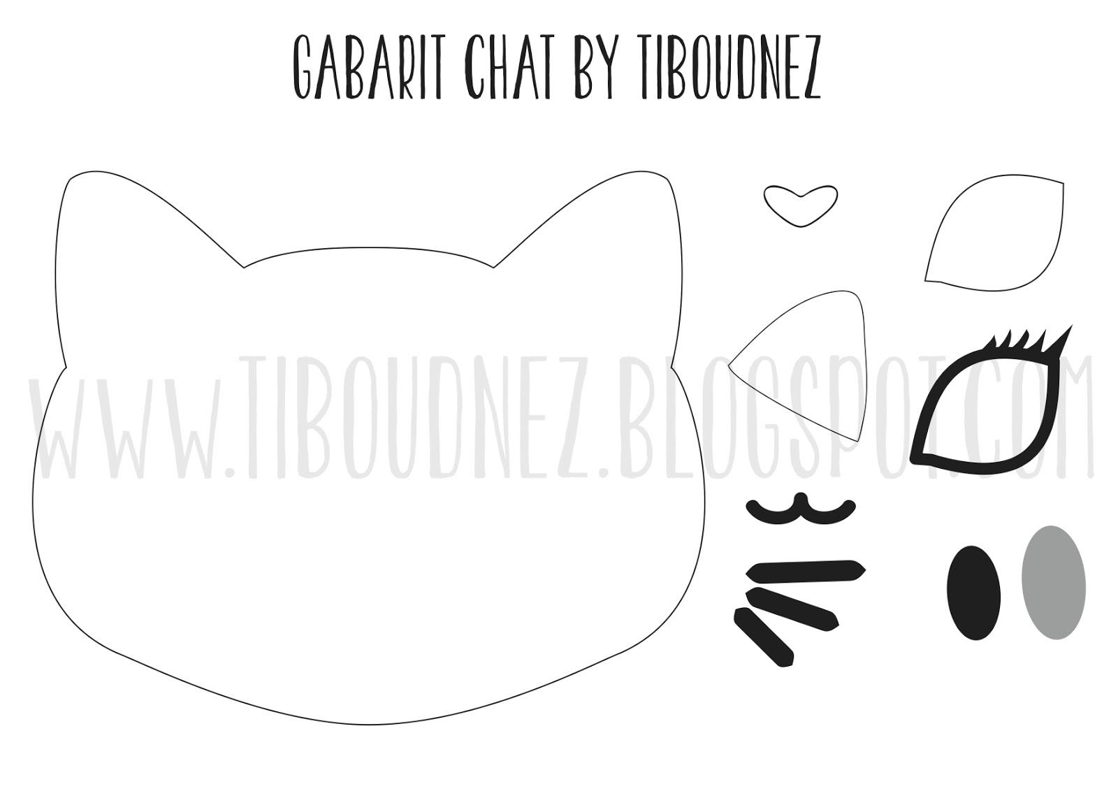 Diy un sac kawaii petite t te de chat tiboudnez - Image de chat a imprimer ...