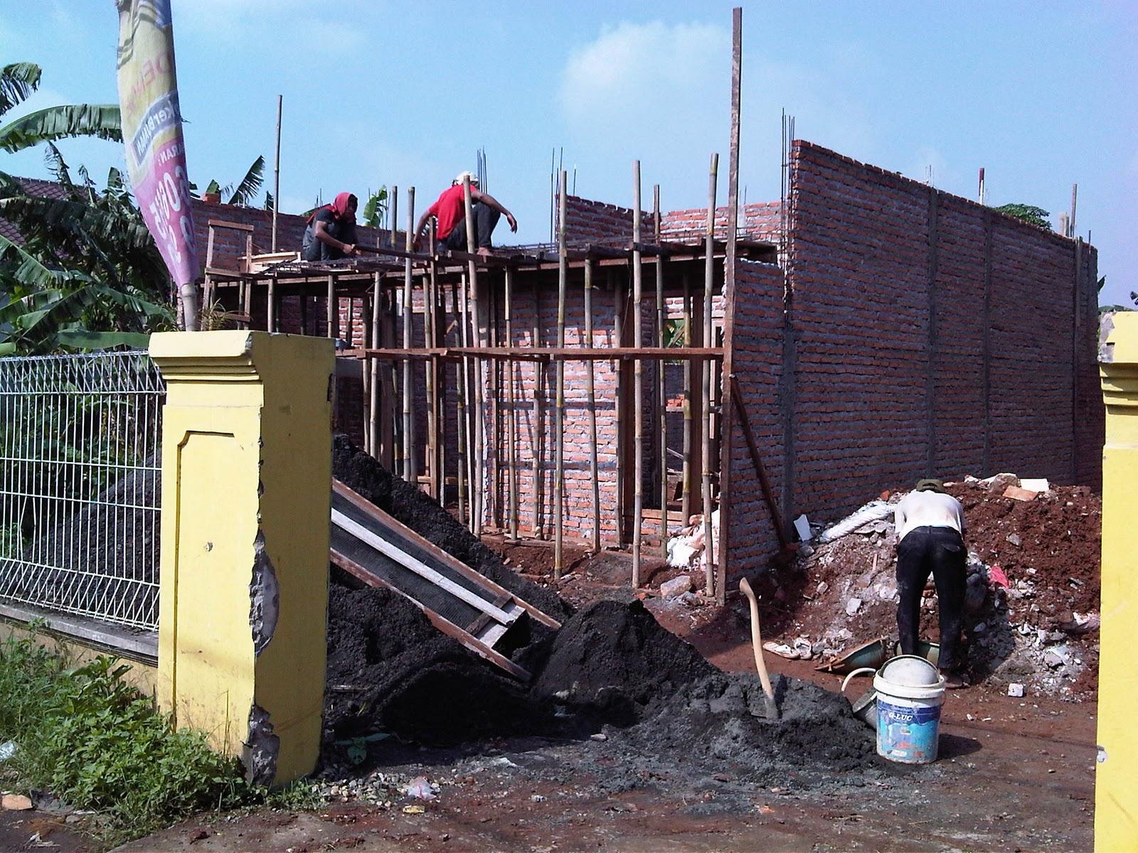 update pemlesteran dinding dan pembuatan dak rumah