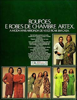 Artex, Moda anos 70; propaganda anos 70; história da década de 70; reclames anos 70; brazil in the 70s; Oswaldo Hernandez