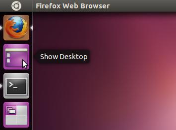 L icône afficher le bureau pour le lanceur unity d ubuntu guide