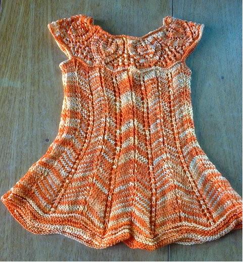 Curso de tejido a mano: Vestido para niña con gran fantasía en dos ...