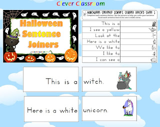 Clever Classroom Halloween sentence joiners Fall Resources
